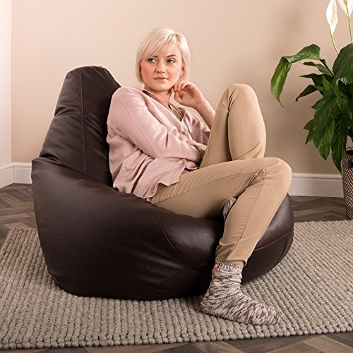 Hi-BagZ® Puff Pera - puf asiento de polipiel, hecho de imitación al cuero - Pufs Grande