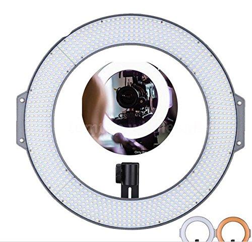 Gowe 720pcs LEDs 5600K Fotografie Studio Lampe Ring LED Video Licht für DSLR Kamera Camcorder mit Tragetasche Farbe Teller (Camcorder Ring-licht Für)