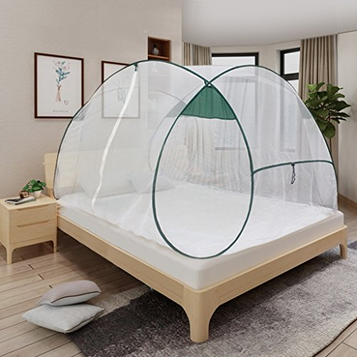 Falten Moskitonetz Zelt Netting Baldachin Vorhänge mit Einzeltür Kostenlose Installation für Indoor Outdoor Anti Insektenstiche Keine Chemikalien Full Size ( größe : 2.0m (6.6ft ) (Full-size-bett Für Kleinkind)