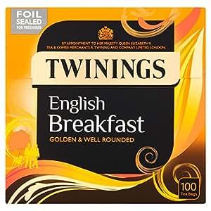 Twinings English Breakfast Tea Bags 100 per pack: Amazon