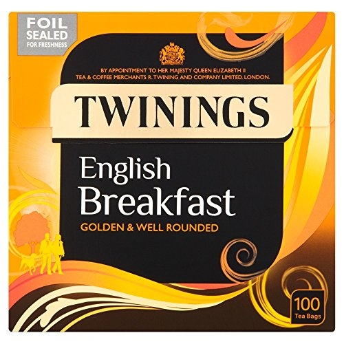 Twinings English Breakfast Tea, 100 Tea Bags, 250 g