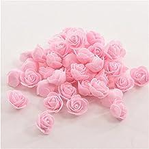 144 unids mini ramo de flores color rosa