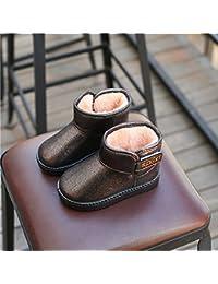 Los Niños de Invierno Nuevas Botas de Nieve Niñas Lentejuelas Zapatos de Algodón Zapatos de Bebé Cálido Estudiantes Niños Zapatos de la Princesa Botas,Do,25