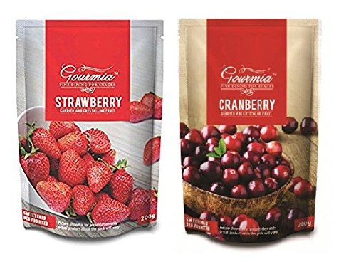 Gourmia Dried Strawberry & Cranberry Combo 400g (2 X 200g)