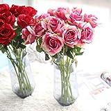 Dragon868 Rosen K�nstliche Gef�lschte Blumen Seide Brautstrau� Hochzeit Home Decor (Rosa, K�nstliche Blume) Bild