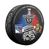 2017 Stanley Cup Playoffs 2nd Round Dueling NHL Souvenir Puck - Senators vs. Rangers