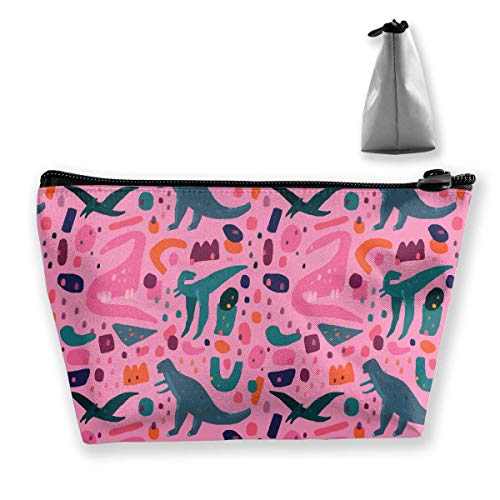 0c0128fe19 Ink Dinosaur Womens Travel Cosmetic Bag Portable Toiletry Brush Storage  Large Capacity Pen Pencil Bags Accessories