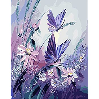 CUFUN Art Paint by Numbers Kit DIY Pre-Printed Canvas Oil Painting Gifts for Kids Adults Wall Decor without Frame 40x50cm Antiques Shop