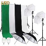 SBARTAR Hintergrund Schirm Fotostudio Fotoleinwand Hintergrund Durchlichtschirm Reflexschirm Set Weiß Hintergrundsystem LED Studio