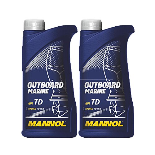 MANNOL 2 x 1L Outboard Marine 2-Takt/API TD NMMA TC-W3 Bootsmotorenöl -