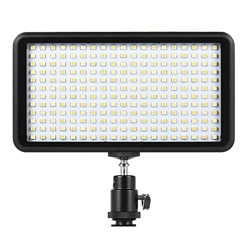 Paneld e Luz LED Andoer Antorcha Led Video 228pcs Ultra Fino 3200K-6000K para Estudio Fotografía...