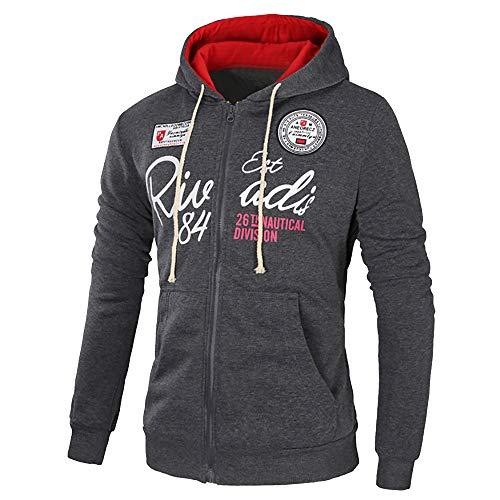 MEIbax Herren Sport Kapuzenjacke Herbst Winter Brief Print Langarm Hoodie Sweatshirts Pullover Jacken Mantel Coats Top Outwear