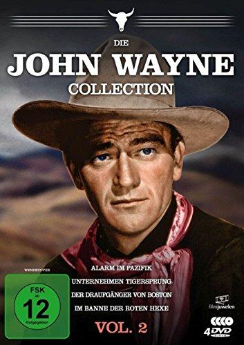 Die John Wayne Collection - Vol. 2 (Alarm im Pazifik/Unternehmen Tigersprung/Der Draufgänger von Boston/Im Banne der roten Hexe) [4 - Western Wayne John Collection
