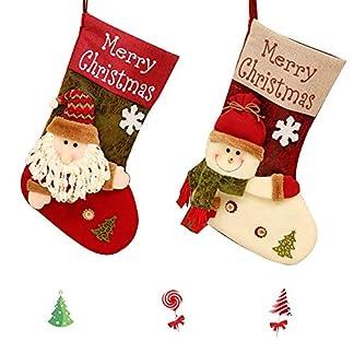 gotyou 2 Piezas de Bolsas de Regalo de Calcetines de Navidad, Colgante de Medias de Navidad,Bolsa de Regalo de Dulces de Santa, Bolsa de Regalo de Calcetines de Navidad,Calcetín de Decoración Navideña