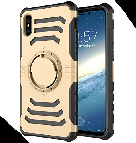 iPhone X Armor Case, Very Light Slim Round Rotating Style + Sport Fashion Arm Belt, WEIFA 2017 Newest Super Cool Outdoor Anti-Drop Protection CellPhone Cover Case For iPhone X Silver !Gold