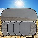 Fontee Baby 5 Stück Kinder Auto-Sonnenschutz, Selbsthaftende Sonnenblenden für Seitenscheiben und heckscheibe, Schutz vor schädlichen UV-Strahlen, Baby Autosonnenschutz passt universell