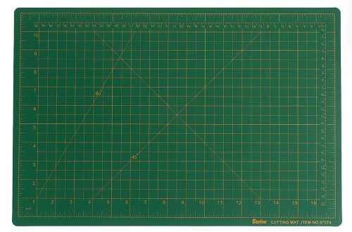 Darice 12-inch-by-18-inch grün Schneidematte, Güteklasse A (Tabelle Quilten)