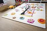 Kinder Teppich Modena Kids Eule - Bunt Öko-Tex zertifizierter Kinderteppich, Größe 200x290 cm