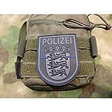JTG Ärmelabzeichen Polizei Baden-Württemberg, blackops, Thin Blue Line, special edition / JTG 3D Rub