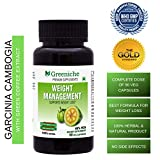 Greeniche Weight Management Natural and Herbal Garcinia Cambogia Extract - 90 Veg Capsules