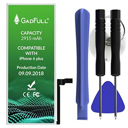 GadFull Akku für iPhone 6 Plus mit Toolset | 2018 Baujahr | inkl. Reparatursatz Manual & Profi Kit Werkzeugset | funktioniert mit Allen ursprünglichen APN | Handy-Akku zusätzliche Batterie