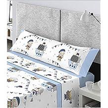 CATOTEX - Juego sábanas infantil PIRATA Catotex. Cama de 90 cm. Color Azul -