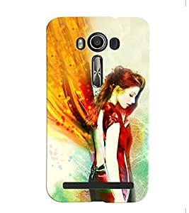 Fuson Angel Girl Back Case Cover for ASUS ZENFONE 2 LASER ZE550KL - D3966