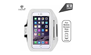 TANTRA Enhandz Armband Adjustable Sports Running, Jogging, Gym, Yoga, Ultra Light Weight Armband Mobile Holder for I-Phone 6 Plus, 6s Plus, 7 Plus & Samsung Galaxy Edge S6, S7(Size: 5.5 Inches)
