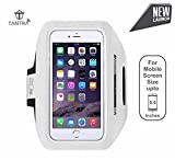 Best Running Armband For Samsung Galaxy S6 - TANTRA Enhandz White ArmBand Adjustable Sports Running,Anti-slip Ultra Review