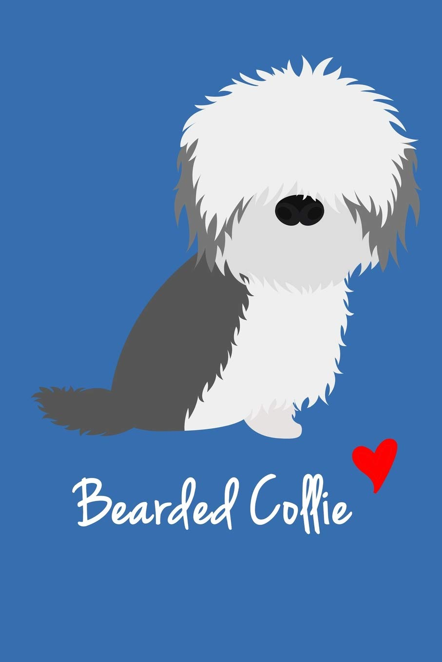 Bearded Collie: Cute Blank Lined Notebook And Journal For Dog Lovers