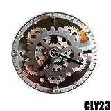 DYNASUN Wanduhr Tischuhr elektrische Zahnraduhr CLY23 Uhr mit Zahnrädern Moderne Design