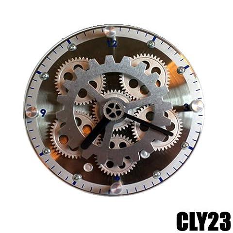 horloge de table/POSER avec ENGRENAGES VISIBLES CLY23