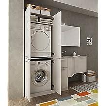 Mueble lavadora - Secadora encima lavadora ...