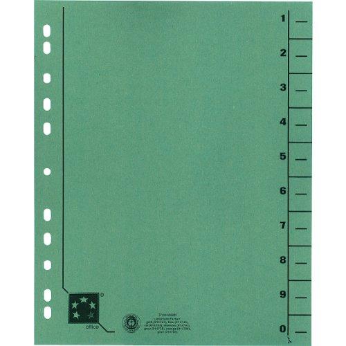 Preisvergleich Produktbild 5 Star 914794 Trennblätter vollfarbig 30x24 cm, RC Karton 230 g/qm Inh.100, grün