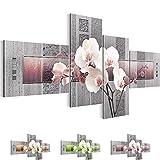Bilder 200 x 100 cm - Orchidee - Vlies Leinwand - Kunstdrucke -Wandbild - XXL Format – mehrere Farben und Größen im Shop - Fertig Aufgespannt !!! 100% MADE IN GERMANY !!! - Blume – Abstrakt 204641c