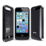 iPhone 5S/5 Akku Fall, Ifans 2400 mAh Ultra Slim Portable Ladekabel Case für iPhone 5/5S/SE (schwarz)