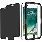 """JETech 2-Pack IPhone 8 7 6s 6 Privacy Anti-Spy Tempered Glass Screen Protector Film W/Easy-Installation Tool For Apple 4.7"""" IPhone 8, IPhone 7, IPhone 6s, IPhone 6"""