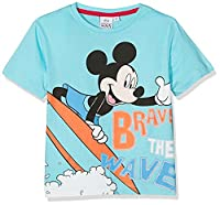 Disney Boy's Mickey T-Shirt, Blue, 5-6 Years (Manufacturer Size:6 Years)