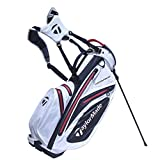 TaylorMade 2017 Waterproof Stand Bag Mens Golf Carry Bag 6-Way Divider White/Black/Red