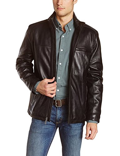Iftekhar Men's Pure leather Jacket - Black - (Iftekhar11 - L)