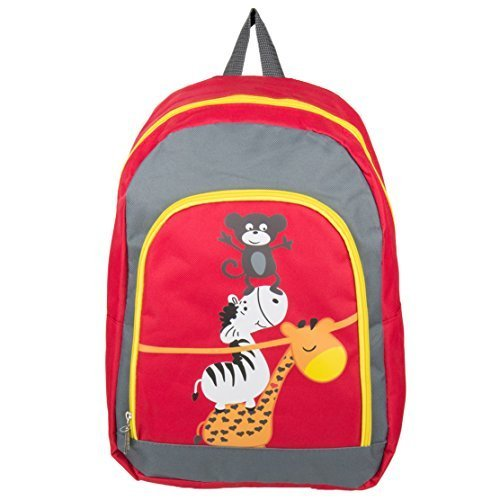Nylon Hybrid Kid's Play Backpack School Bag Fits DBPOWER Portable DVD Players (Animals)