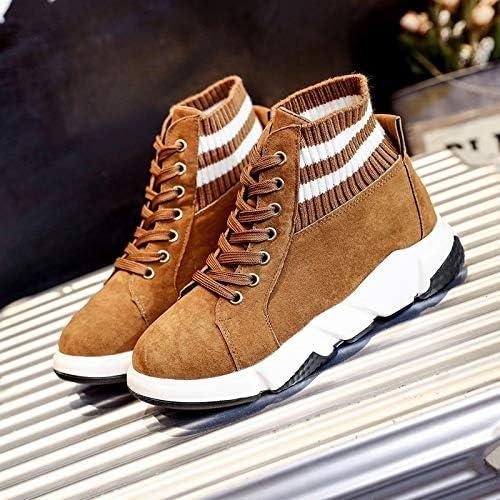 Shukun Stivaletti Plus Cotton Cotton Cotton Warm High scarpe Autunno e Inverno Sport scarpe Casual Socks Scarpe Donna Thick Cotton scarpe, 35, Marronee B07MMTWXG4 Parent | Aspetto estetico  | Ottima qualità  19ddb5