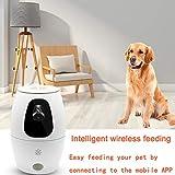 TXYFYP Automatisierte Futterspender für Hunde,Automatischer Futterautomat,Hunde Katzen Futterspender mit 720P HD-Videokamera, Voice Intercom/Record Remind, APP-Fernbedienung
