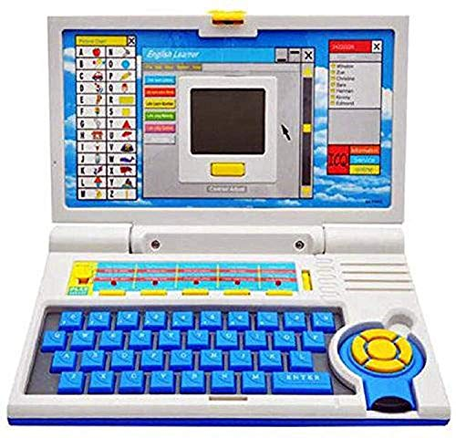 Mqfit Laptop Smart English Learning Educational Laptop - ABC Learning Computer for 3 Year Old Boys|Girls.