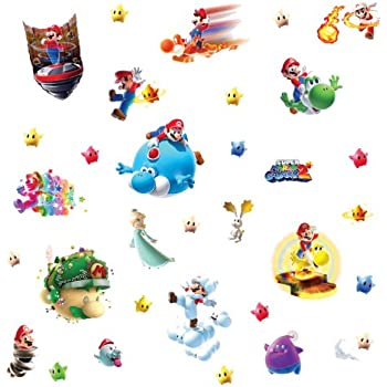 RoomMates Repositionable Childrens Wall Stickers Nintendo Super Mario  Galaxy 2 Part 88