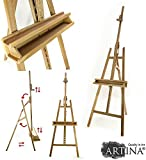 ARTINA Professional Artist Easel BARCELONA - Solid Pinewood - Height: 225cm (88.58'') - For Canvases up to 120cm