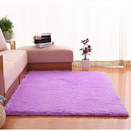 JIADT Teppich Stoff Rutschfeste Matte Dicke Boden teppiche für Wohnzimmer einfarbig Bad wasseraufnahme Boden Teppich Matte cuatom größe -