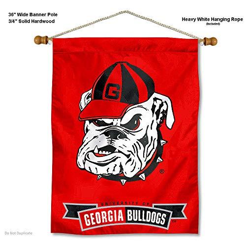 Georgia Bulldogs Bulldog Logo Wand Banner