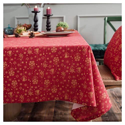 Hintergrundbildpuzzle Tischdecke Hot Stamping Glocken japanischen Orthogonal Druckten Baumwollleinentischdecke steckpuzzle mit (Color : Red, Size : 140 * 300)