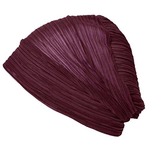 Casualbox Damen Dün Beanie Hut alle Jahreszeiten Mütze Dunkelrot